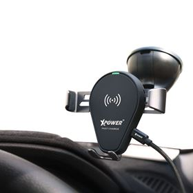Picture of Xpower 2 in 1 Fast Charge Wireless Charging Car Mount Holder  XP-CMW-BK
